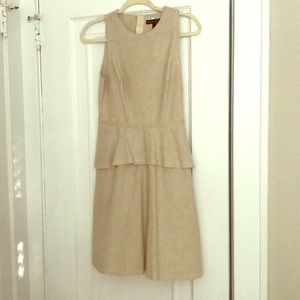 Tan peplum dress